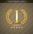 winner label vector image vector image