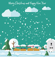 Winter in the city it is snowing Christmas Fair vector image vector image