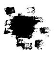 black blob and spots vector image