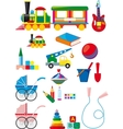 Set of children toys vector image