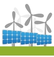 Solar and windmills power plants vector image