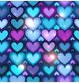 Dark blue hearts seamless pattern vector image