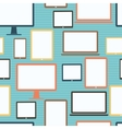 Seamless pattern with electronic devices vector image