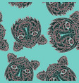 abstract tiger pattern jungle tropical vector image