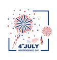 4 july usa independence day design vector image vector image