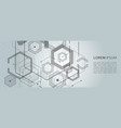 abstract geometric background with gexagon shapes vector image vector image