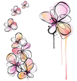 abstract watercolor flowers vector image