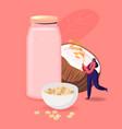 alternative non lactose drink vegan character vector image