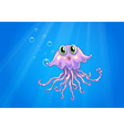 An octopus under the sea vector image vector image