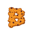 b letter cookies cookie font oatmeal biscuit vector image vector image