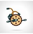 Bike crank flat icon vector image vector image