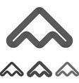 Black line abstract logo design set vector image vector image
