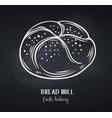 bread rolls chalkboard style vector image