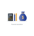 Budget money count financial calculator pencil and vector image vector image