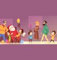 cartoon christmas vector image vector image