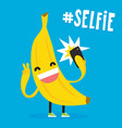 cute kawaii banana taking selfie vector image