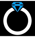 Diamond Ring Icon from Commerce Set vector image vector image