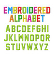 embroidered font vector image