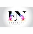 en vibrant creative leter logo design with vector image vector image