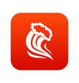 foamy splash icon digital red vector image vector image