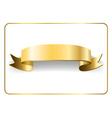Gold satin ribbon on white 9 vector image vector image