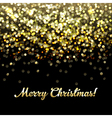 Golden Defocused Merry Christmas Background vector image