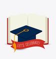 Graduation design vector image vector image