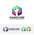 hand care logo design vector image