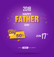 happy father day sale banner cover template vector image