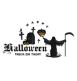 Happy Halloween Badge and Label vector image vector image
