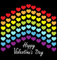 happy valentines day rainbow flag line backdrop vector image vector image
