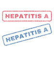 hepatitis a textile stamps vector image vector image