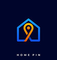 home pin template vector image