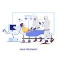 hospital coronavirus treatment concept flat vector image