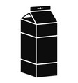 juice pack icon simple style vector image