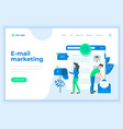 landing page template e-mail marketing concept vector image