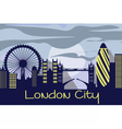 London city silhouette vector image vector image