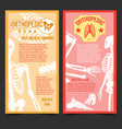 medical orthopedic posters with human bones vector image vector image
