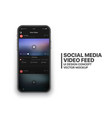 mobile social media video feed ui concept vector image vector image