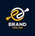 modern letters ee logo vector image vector image