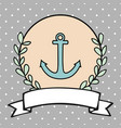 nautical card or sailor invitation vector image vector image
