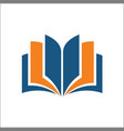 open book icon simple book icon vector image