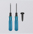 photo-realistic screwdriver isolated on vector image