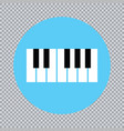 piano icon and keys of piano concept modern music vector image