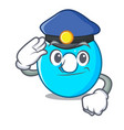 police the number zero on the character vector image