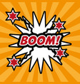 pop art boom comic bubble speech explotion vector image