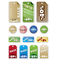 promotion shopping marks and labels vector image vector image