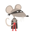 Rat Animal Dressed As Superhero With A Cape Comic vector image vector image