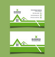 real estate business card template design vector image vector image