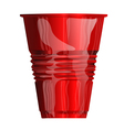 red plastic cup vector image vector image